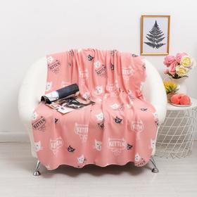 Плед Киттен розовый 120х150см, флис 120г/м пэ100%
