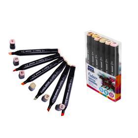 Набор художественных маркеров Mazari Fantasia, Skin colors (телесные цвета), 6 цветов