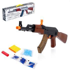Автомат АК-47, стреляет двумя видами пуль