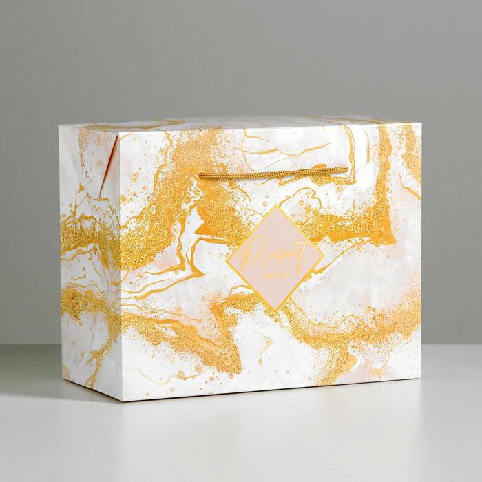 Пакет—коробка Present for you, 23 × 18 × 11 см