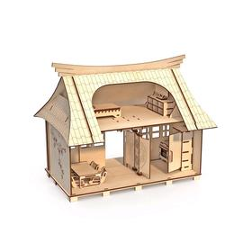 Конструктор-кукольный домик «Сакура» с мебелью