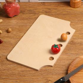 """Board cutting wooden """"Functional No. 2"""", 29×19×0.6 cm"""