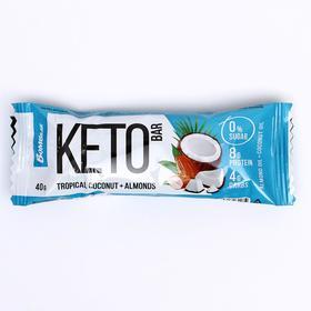 """Протеиновый батончик """"КЕТО"""", тропический кокос и миндаль, 40 г"""