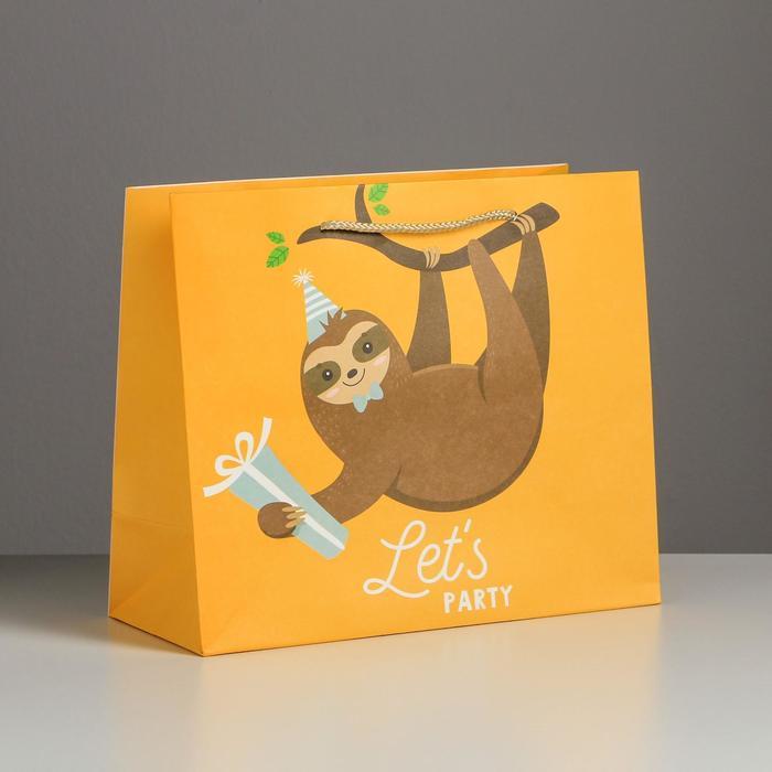 Пакет подарочный Let`s party, 27 х 23 х 11,5 см