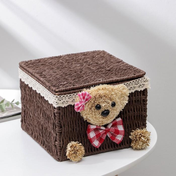 "The storage basket is woven with kryshkoi ""Bear"" 20х20х15 cm"
