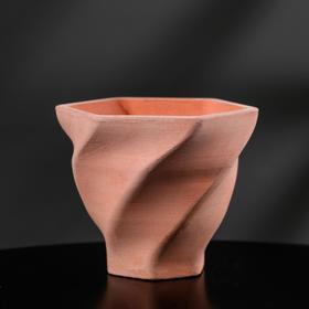 Кашпо винтовое из гипса «Феерия», розовое, 10,5 х 9 см