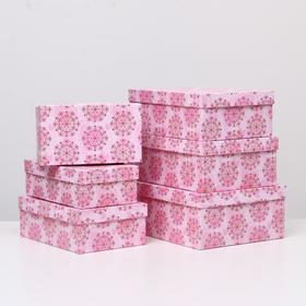 "Set of 6 boxes in 1 ""Sensitivity"", 35 x 25 x 12.5 - 23 x 13 x 7.5 cm"