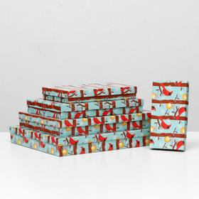 """A set of boxes 5 in 1 """"Bird NG"""", 40 x 30 x 5 - 20 x 10 x 3 cm"""