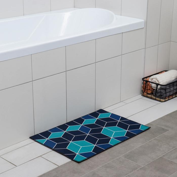 Коврик Доляна «Бурлеск», 40×60 см, цвет синий - фото 7930419
