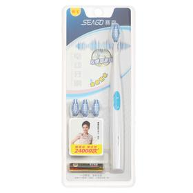 Electric toothbrush Seago SG-582, 24000 bpm, timer, +3 attachments, from 1haaa, blue