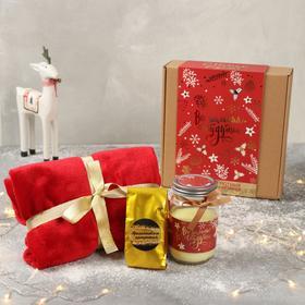 Подарочный набор «Все желания сбудутся»: чай 50г., плед 70 х 100, свеча