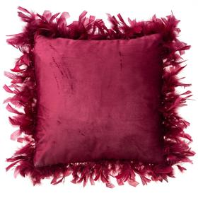 Наволочка декоративная Этель «Роскошь», цвет красный, размер 40х40 см