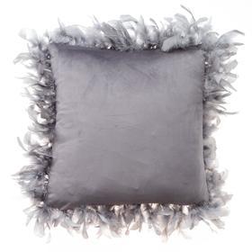 Наволочка декоративная Этель «Роскошь», цвет серый, размер 40х40 см