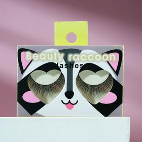 Накладные ресницы с клеем Beauty raccoon