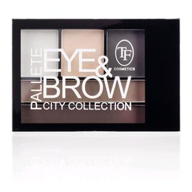 Shadows for the correction of eyebrows and eyes palette TF Eye & Brow Palette City, tone 01C.