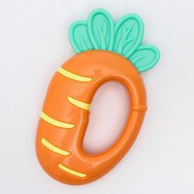 Прорезыватель с погремушкой «Овощной микс - Морковка»
