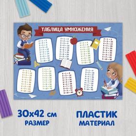 Коврик для лепки «Таблица умножения», формат A3