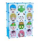 Шкаф модульный для игрушек «Мультяшки-3» белый, голубой, 12 дв. - фото 76456563