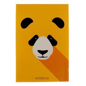 """Блокнот А6, 40 листов на клею """"Панда"""", обложка мелованный картон, блок офсет 70 г/м2"""