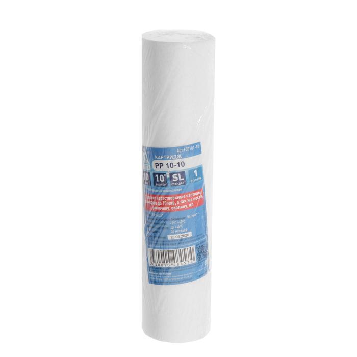 Картридж ITA Filter PP-10, полипропилен, 1-ая ступень, удаление мелких частиц, 10 мкм