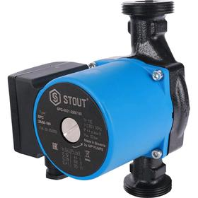 Насос циркуляционный STOUT SPC-0001-2560180, 25/6-180, 95 Вт, напор 6,5 м, 67 л/мин
