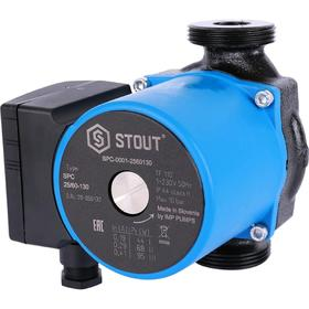 Насос циркуляционный STOUT SPC-0001-2560130, 25/6-130, 95 Вт, напор 6,5 м, 67 л/мин