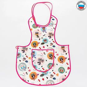 Apron bib, art. 0070, with a pattern