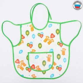 Apron bib, 36h36 cm, art. 0071, patterned