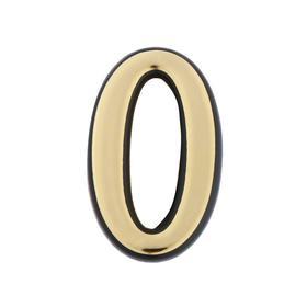 "Door numeral ""0"" of TUNDRA, plastic, color gold, 1 piece"