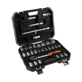 """Набор инструментов HARDEN 510432, CRV, 1/2"""", пластиковый кейс, 32 предмета"""