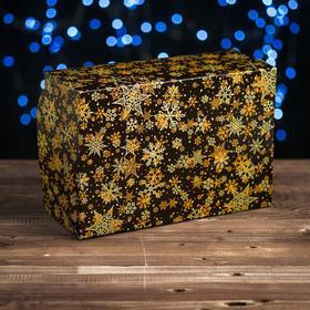"Cardboard box of 6 cupcakes ""Stars-snowflakes"" , 25 x 17 x 10 cm"