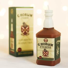 Свеча виски «С Новым годом», 13,2 х 5 х 5 см
