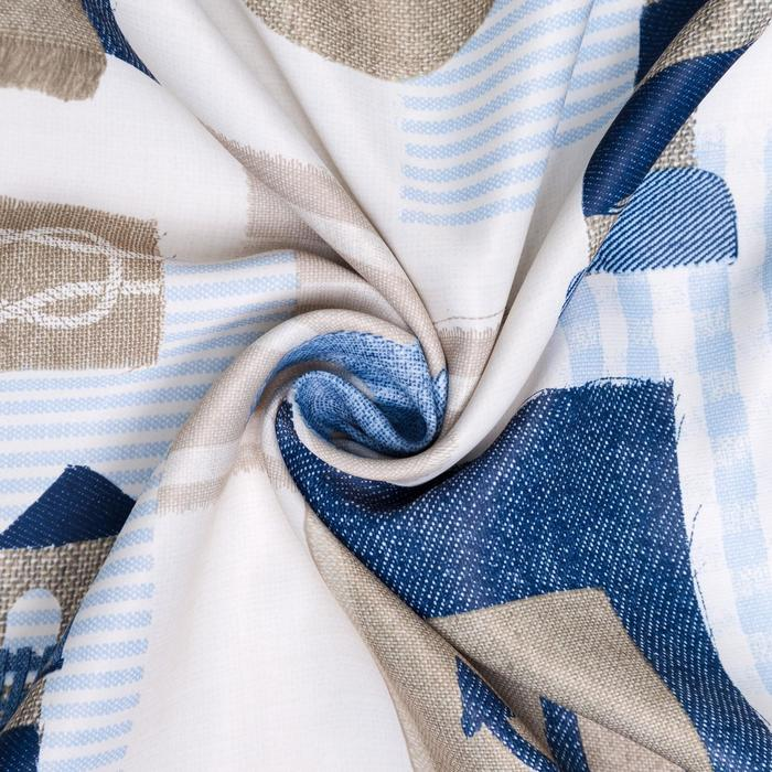 Ткань портьерная 10 м ш. 280 см «Морской стиль»