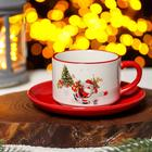 """A couple of tea """"At a meeting of the New year"""" Cup 210 ml, saucer 15 cm"""