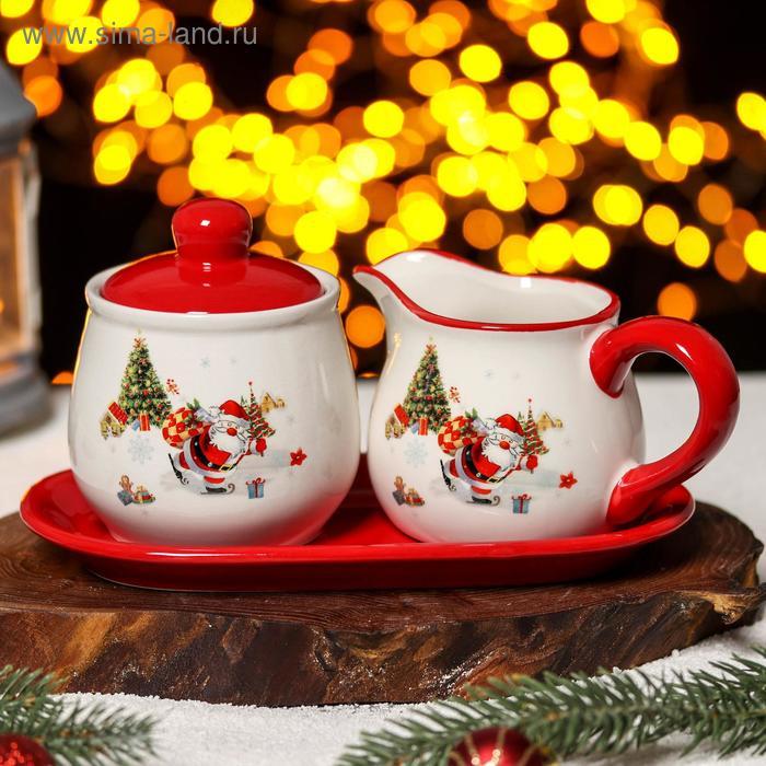 "Set serv. 2 piece ""meet the New year,"" the milkman 270 ml, sugar bowl 9,4x10,6 cm 310 ml"