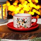 """A couple of tea """"the Year of the bull"""" Cup 210 ml, saucer 15 cm"""