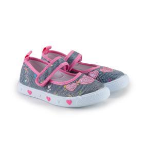 Кеды детские, цвет розовый, размер 30