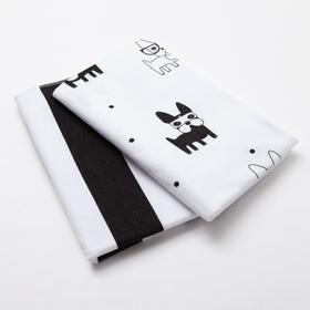 Набор пелёнок Крошка Я «Модные собачки» 75х120 см - 2 шт