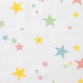Фланель «Радужные звёздочки» ширина 150 см, длина 10 м