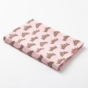 "Diaper Baby I ""Crown"" 40*60 cm, flannel,160g/m2,100% cotton"