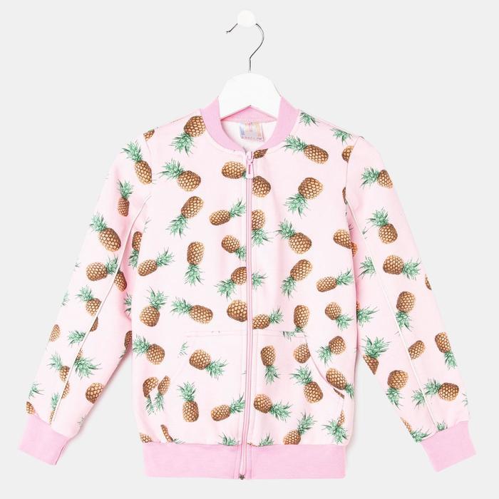 Джемпер для девочки, цвет розовый, рост 128 см - фото 76458916