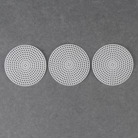 Canvas for embroidery plastic round d7. 5cm (neb 3 PCs price per nab) white AU