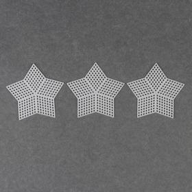 Canvas for embroidery plastic star 8,5*8,5 cm (3 PCs emb price emb) white AU