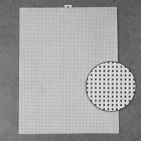 Canvas for embroidery plastic suspension 26*34cm white AU
