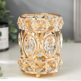 Candle holder metal glass candle 1