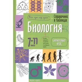 Справочник в таблицах «Биология, 7-11 класс»