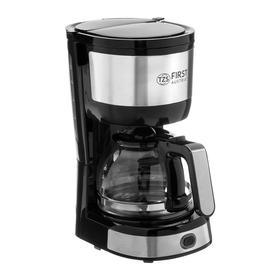Кофеварка FIRST FA-5464-4, капельная, 750 Вт, 0.6 л, черно-серебристая