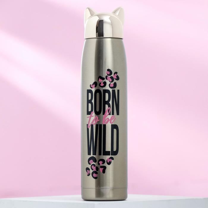 "Термос ""Born to be wild"", 350 мл, сохраняет тепло 12 ч - фото 494381"
