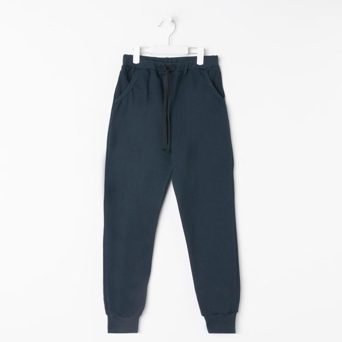 Брюки для мальчика, цвет тёмно-синий, рост 134 см (36) - фото 1937335