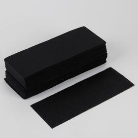 Полоски для депиляции, 21 × 7 см, 100 шт, цвет чёрный